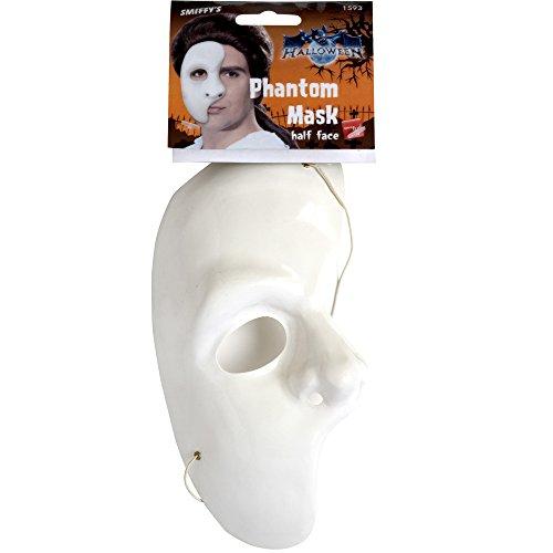 Geister Gesichtsmaske, One Size, Weiß, 1593 (Schnelle Und Einfache Halloween-ideen Für Erwachsene)