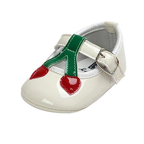 FEITONG Baby Kirsch Prinzessin Weiche Sole Schuhe Kleinkind Turnschuhe Beiläufige Schuhe (13, Gold) Weiß