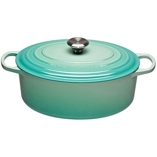 Le Creuset 21178314962430 Bräter Oval Signaturenature 31 cm, cool Mint