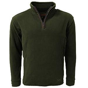 41x770Ut0HL. SS300  - Game Technical Apparel Mens Stanton Fleece Pullover Winter Warm Half Zip Jumper