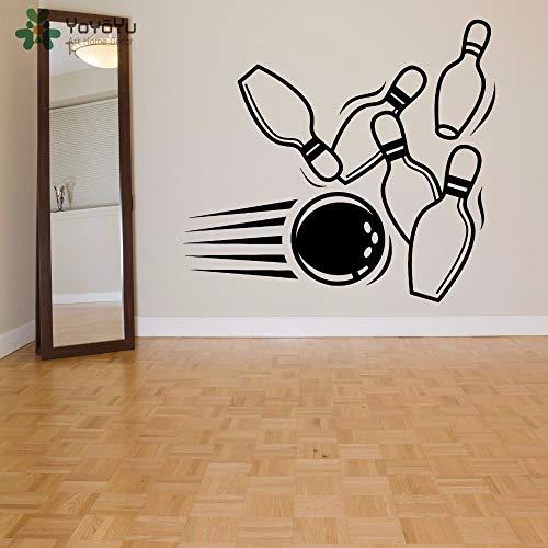 owling Pin Ball Muster Sport Wandaufkleber Moderne Mode Kunstwand Spielzimmer Spezielle Fenster Dekor Design 46 * 42 Cm ()