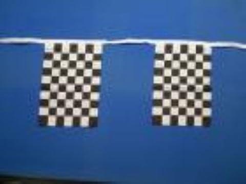 Noir et blanc Checkered de banderoles de 9 m (environ 30 pieds) parfait pour les festivals et événements sportifs