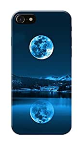Apple Iphone 7 Black Hard Printed Case Cover by Hachi - Mountains Design