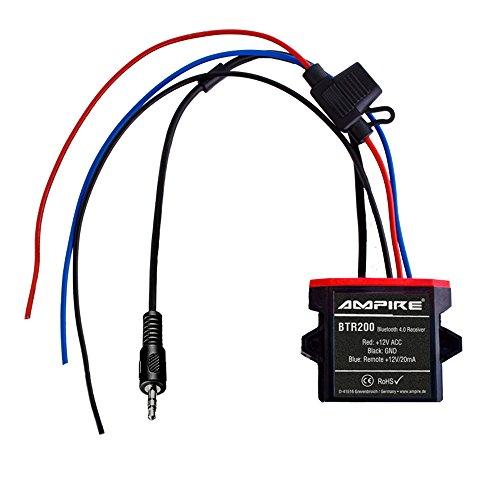 AMPIRE BTR200 universal Bluetooth-Adapter zum Musikstreaming mit Auto-Remote (wasserdicht, AUX 3,5mm Klinke) perfekt für Kfz / Auto / Home Hi-Fi / Boot / Marine (Universal-auto-bluetooth-adapter)