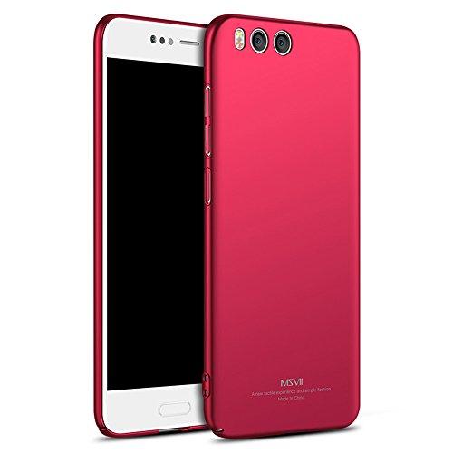 """Coque Xiaomi Mi Note 3 (5.5""""), MSVII® Très Mince Coque Etui Housse Case et Protecteur écran Pour Xiaomi Mi Note 3 (5.5"""") - Violet JY00391 Rouge"""