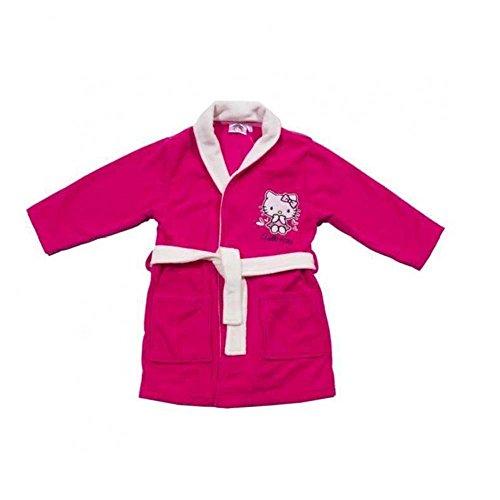 Hello kitty-Bata para niños de/Albornoz para niña, color rosa Fucsia 4 años
