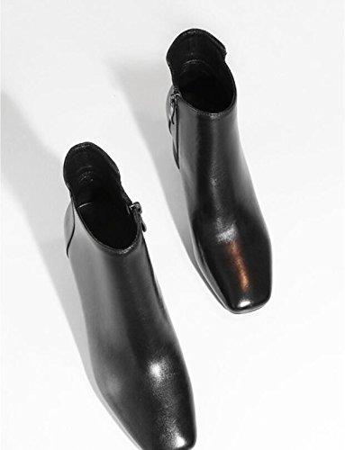 KHSKX-Les Femmes Bottes Jaune Automne Nouveau Single High-Heeled Bottes Bottes Bottes Martin Bottes Nu Avec Épais 39