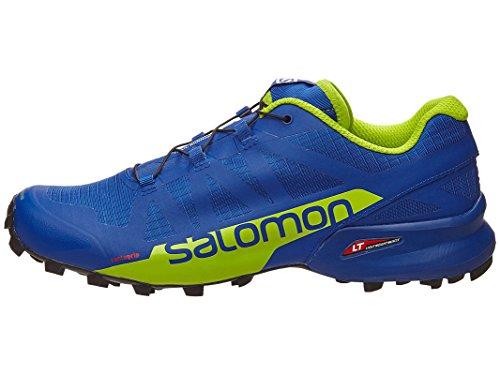 Salomon Speedcross Pro 2, Scarpe da Escursionismo Uomo Multicolore (Surf The W/Lime Green/B)