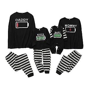Haokaini Conjunto de Pijamas a Juego de la Familia de Navidad Conjunto de Pijamas de Ropa de Dormir de batería para… 9