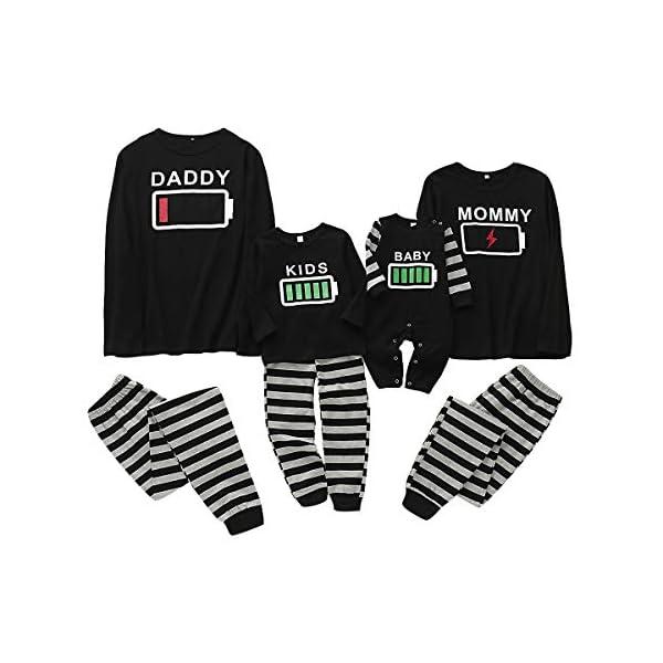 Haokaini Conjunto de Pijamas a Juego de la Familia de Navidad Conjunto de Pijamas de Ropa de Dormir de batería para… 1