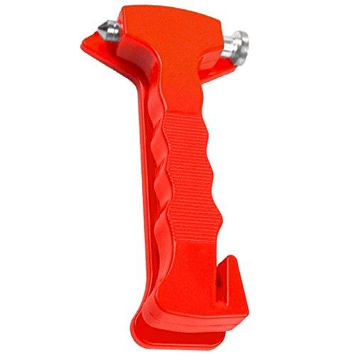 Notfallhammer Notfall Hammer mit Gurtschneider Nothammer Auto Sicherheit 2 Seiten zum einschlagen (spitz) und entfernen (flach)