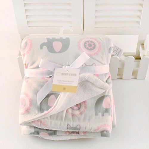 Per Baby Cartoon Double-layer Velvet Blanket Coral Fleece Sheets Warm Swaddle Short Plush Blanket For for Children Babies Newborns (Double-layer Velvet)