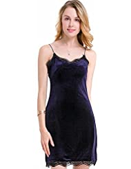 La Sra. verano llevan vestidos de verano color sólido estrobo de atrás vestidos ,AZUL,S/EU36-YU&XIN