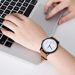 Men's And Women's Wristwatches, Digital Group Dials, Quartz Watches, Leather Straps, High-Transmission Mirrors, Couple Watches, Gifts,#A
