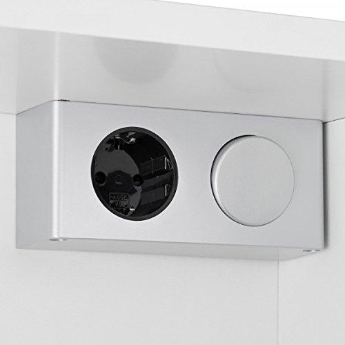 Spiegelschrank Galdem 80 cm – LOFT80 Spiegelschrank weiß - 4