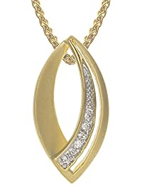 Yellow Gold Plated On Brass Fashion Pendant with 18 Inch Chain