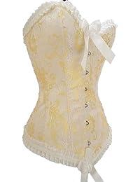 E-Girl Vogue bowknot Décor corset d'or,d'or