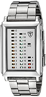 DETOMASO Men's Spacy Timeline 1 Quartz Watch with White Dial Digital Display and Silver Stainless Steel Bracelet G-30723A (B0036ZBTK6)   Amazon price tracker / tracking, Amazon price history charts, Amazon price watches, Amazon price drop alerts