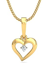 P.N.Gadgil Jewellers 18k Yellow Gold And Diamond Single Chain Pendant