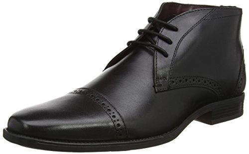 Lotus Rickard, Chaussures à Lacets Homme Noir (cuir noir)