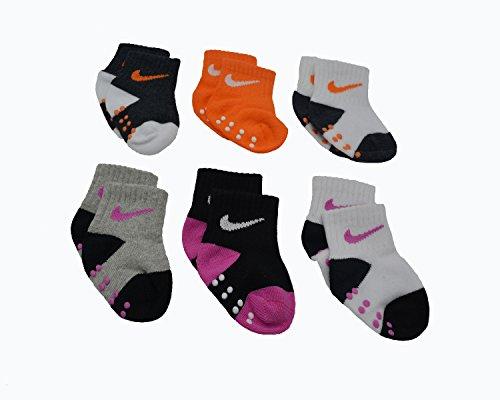 Baby Bucket Prewalkers foldup stretchable Skid-Resistant Soft Cotton Baby 6pc Socks Set (8-12 Months, Multicolor Pink-2)
