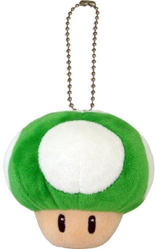 Pl Mini-anhänger (Super Mario Bros. Plüsch Anhänger / Figur / Stofftier: 1-Up Mushroom / Pilz 9 cm (San-Ei))
