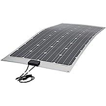 Biard 150W Solarpanel Photovoltaik Solarmodul - Monokristalline Solarzellen - Ideal zum Aufladen von 12V Batterien in Wohnmobilen - Optimal für Unebene Oberflächen - Mit 1 m Kabel & MC-4 Anschlüssen