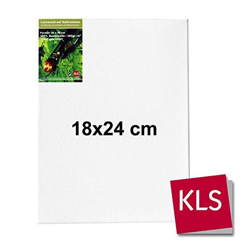 KLS 6004 Leinwand, Baumwolle/Holzrahmen, weiß, 18 x 24 x 2 cm