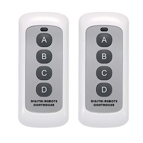 Festnight SONOFF Wireless Remote Control Switch, 433MHz RF Sender 4 Taste Schlüssel Fernbedienung Schalter für Smart Home Dc 12v Wireless Remote