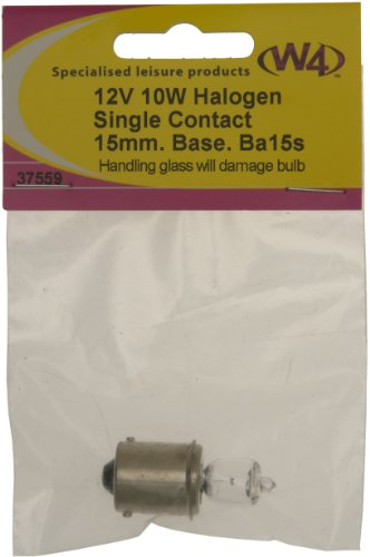 W4 BA15S 12V 10W Halogen Bulb – Transparent