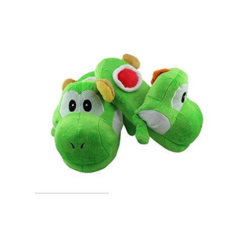 Unbekannt DS Witzige Hausschuhe Slipper *Grün Gr. 38-41* Pantoffeln Yoshi