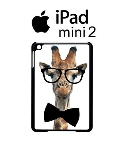 Geek Giraffe Nerd Geek Bow Tie Cool Funny Hipster Swag iPad Case Back Cover Hülle Weiß Schwarz Mini 2 Tablet White