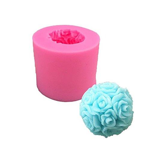 Buyer-first Grandes rosas ramo de flores de silicona pastel de azúcar molde molde de jabón hecho a mano al horno molde decorativo