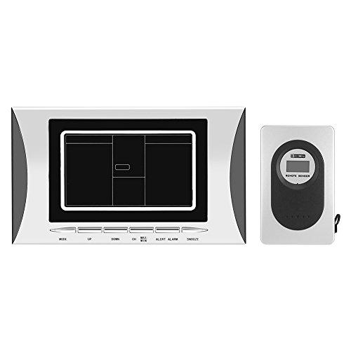 LCD Digital reloj estación meteorológica humedad temp sensor alarma funciona con pilas reloj termómetro...
