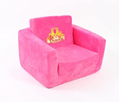 Children's chair - fold out to bed - sofa Hot Pink Princess