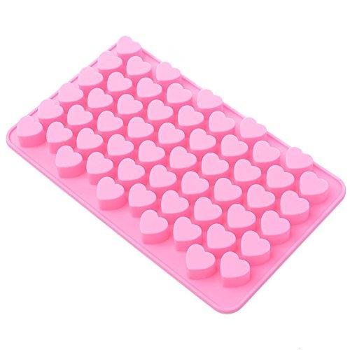 Fantasyday® stampo in silicone con 55 cavità per cubetti di ghiaccio, biscotti, tortini, cioccolato, dolci - cuore