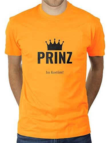 Prinz in Kostüm - Faschingskostüm Karnevalskostüm - Herren T-Shirt von KaterLikoli, Gr. 3XL, Gold Yellow