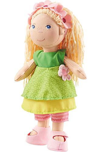 Haba 2141 - Puppe Mali, 30cm, niedliche Weich- und Stoffpuppe ab 18 Monaten, mit Kleidung und langen Haaren