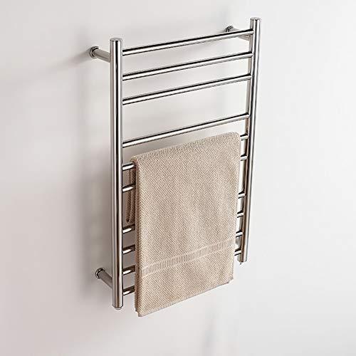 WHZWH Wand montiert Hotel Badetuch wärmer, elektrische Handtuch Rack poliert Oberflächenbehandlung, 304 Edelstahl, wasserdichte Bewertung IP56, 78 x 50 x 12,5 cm,Plugin - Elektrische Wand-handtuch-wärmer