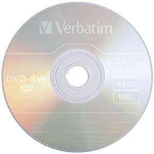 Verbatim DVD-RW 4.7GB 2X Branded 10pk Jewel Case