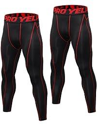 Niksa Sport Leggings männer 2er Pack,Laufhose Tight Lange Unterhose Quick Dry Kompression Hose für Fitness Gym Joggen Gr. S-XXL