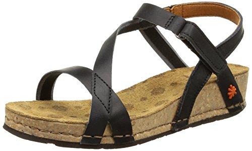 The Art Company 0736 0736 Mojave Pompei - sandali con plateau Donna, Nero (Black), 39 EU