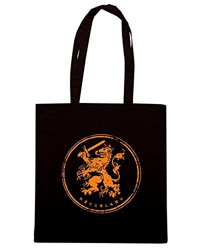 T-Shirtshock - Borsa Shopping WC0507 NETHERLANDS T-SHIRT - NEDERLAND ICON Nero
