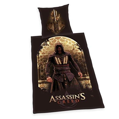 Herding 4484201050 Assassin's Creed Bettwäsche, Baumwolle, braun, 135 x 200 x cm