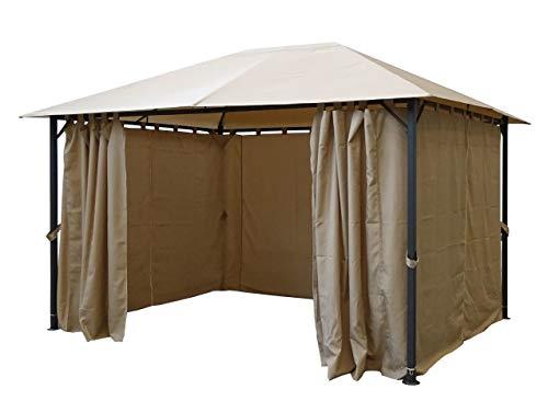 Quick-Star 4 Seitenteile für Pavillon Nizza 3x4m Seitenwand Sand