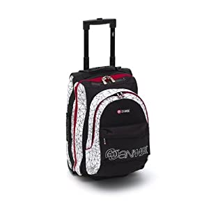 Animal Wheeled Luggage Rucksack Split Biff - White Black Red