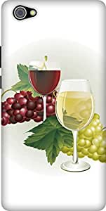The Racoon Lean printed designer hard back mobile phone case cover for Vivo X5 Pro. (grapes win)