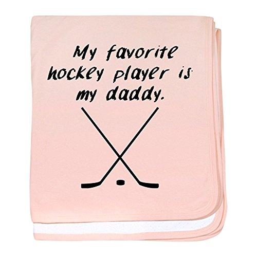 CafePress–My Favorite Hockey Player ist My Daddy–Baby Decke, Super Weich Für Neugeborene Wickeldecke petal pink