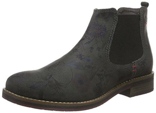 s.Oliver Damen 25335 Chelsea Boots Grau (anthra MULTIFL 292)
