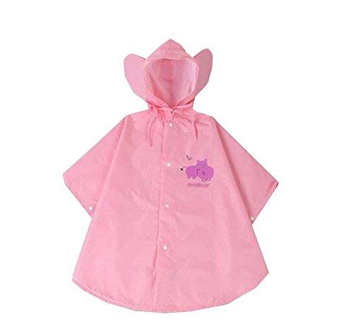 Cute Girl Rose cape de pluie Enfants utiles Raincoat pluie Protector